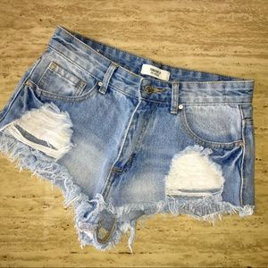 Forever 21 Ripped Style Jean Shorts